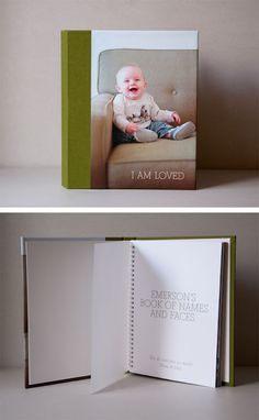 Love the idea of making a book for Oliver of both our families.