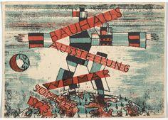 "Bauhaus Ausstellung Weimar Juli–Sept, Karte Lithograph, 3 x 5 "" × 15 cm). Committee on Architecture and Design Funds. Moma, School Exhibition, Eye Candy, Harvard Art Museum, Walter Gropius, Ecole Art, Postcard Art, New York, Ludwig"
