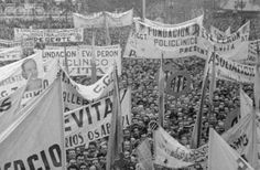 People Participating in Mass Demonstration 1955