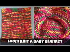 How to loom knit a baby blanket - for beginners - YouTube