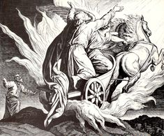 "font size=""1"">sourcehariot of Fire, woodcut for 'Die Bibel in Bildern', 1860, by Julius Schnorr von Carolsfeld."