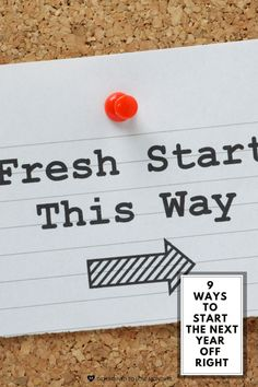 Need a fresh start? Try these 9 ideas. #startinglifeover #howtostart #newyearsresolutions#thenewyear #happynewyear #plannerlove#wellnessplanner #organizedplannerideas#lifeplanner #organization