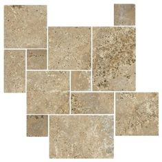 Antalya Noce Tumbled Travertine - Bodenfliesen - andere Metro - The Tile Shop Travertine Floors, Brick Flooring, Basement Flooring, Concrete Floors, Modern Flooring, Cork Flooring, Linoleum Flooring, Bedroom Flooring, Flooring Ideas