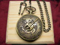 Steampunk HandDesigned Pocket Watch  Basilisk by mythicaljewelry, $59.99