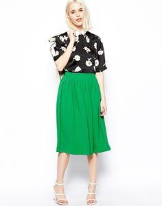ASOS Woven Midi Vintage Skirt
