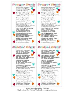 Prayer rock poem kid version good idea for a gifti am here below is another free printable poem to go with them use these as bookmarks tags or what ever t negle Choice Image