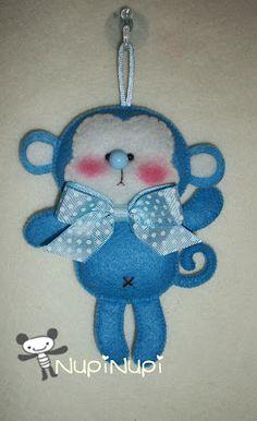 *FELT ART (plush) ~ nupi-nupi: TUTORIAL: Make a monkey creations