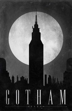 Justin Van Genderen, Gotham,Comic Book Travel Poster, 2046design ©