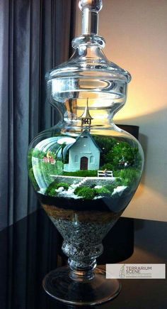 Terrarium with a little church inside. Mahmut Kırnık
