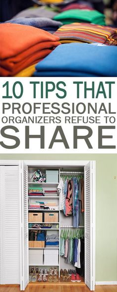 10 Tips That Professional Organizers Refuse to Share - 101 Days of Organization Organization, Organization Tips, How to Organize Your Home, Home Organization, Quick Ways to Organize Your Home, Fast Ways to Organize, Clutter Free Home, Clutter Free Living #clutterfree