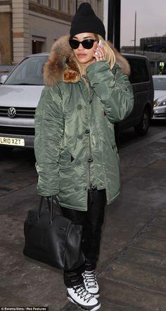 Rita Ora in Alpha Industries
