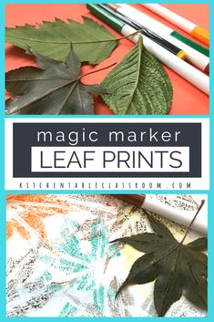 Even when, or sometimes especially when, it's as simple as these little leaf prints! All you need is washable markers and leaves! Craft Projects For Adults, Fall Crafts For Kids, Diy Arts And Crafts, Holiday Crafts, Art For Kids, Kids Crafts, Art Projects, Autumn Crafts, Autumn Art