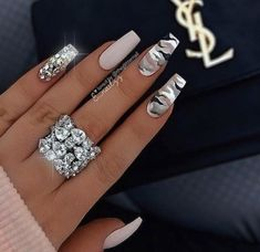 Camo Nail Designs, Cute Acrylic Nail Designs, Nail Art Designs, Nails Design, Creative Nail Designs, Beautiful Nail Designs, Creative Ideas, Summer Acrylic Nails, Best Acrylic Nails