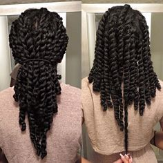 Simple Hair Care Advice To Get The Hair You've Always Wanted - All Hair Care Tips and Guide Pelo Natural, Long Natural Hair, Natural Hair Journey, Natural Twists, Twist Hairstyles, Pretty Hairstyles, Hairstyles Videos, Black Hairstyles, Curly Hair Styles