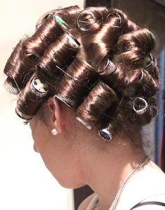 Sleep In Hair Rollers, Wet Set, Perm Rods, Roller Set, Curlers, Beauty Shop, Curled Hairstyles, Hair Beauty, Feminine