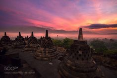Borobudur in the morning by 1466468453