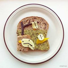 Food artworks recreating famous paintings on toasts and plates look unusual and amazing