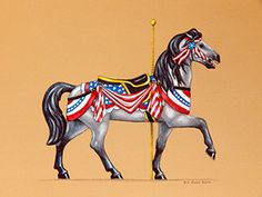 2016 Raffle Horse concept Merry Go Round Museum The 2016 Raffle Horse is being created in a Patriot theme to honor the election year.