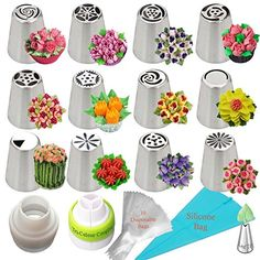 Russian Piping Tips Frosting Tips Cake Decorating Supplie...