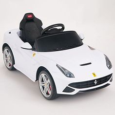 Ferrari F12 Rastar 12V Battery OperatedRemote Controlled Ride On Car w Mat  Keychain White -- Click image to review more details.