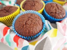 One Bowl Fudgy Chocolate Coconut Muffins that are perfect for the school lunchbox.  Freezer friendly and super easy to make.