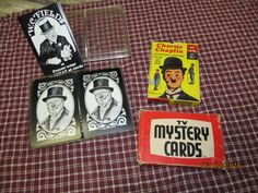 Vintage Playing Cards Lot TV Mystery Cards Charlie Chaplin 1972 Educational Card Game W.C. Fields by EvenTheKitchenSinkOH on Etsy