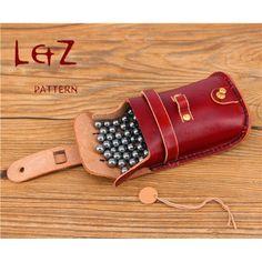 2patterns slingshot case pattern &steel ball bag sewing patterns leather slingshot bag patterns PDF instant download QQW-75 LZpattern design