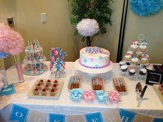 Gender revel party set up