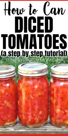 Recipes With Diced Tomatoes, Canned Tomato Recipes, Canning Diced Tomatoes, Canned Roasted Tomatoes Recipe, Canning Tomatoes Water Bath, Canning Peppers, Canned Carrots, Pickled Tomatoes, Canning Apples