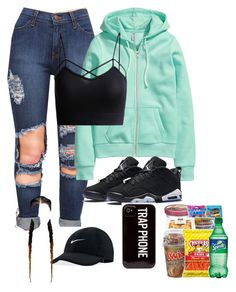 """""""Untitled #95"""" by baby-boogaloo on Polyvore featuring H&M and NIKE"""