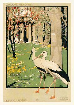 KEW GARDENS vintage poster