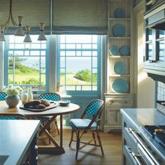 For interior spaces with long views of beach or bay, designer Steven Gambrel defers to the landscape. | Coastalliving.com