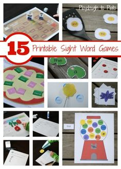 15 Customizable Sight Word Games - Playdough To Plato