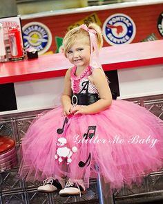 Poodle tutu dress- Girls Poodle Sock Hop tutu dress- Sock Hop Costume-Poodle Tutu
