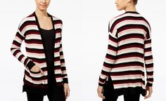 Freshman Juniors' Striped Open-Front Cardigan - Juniors Sweaters - Macy's
