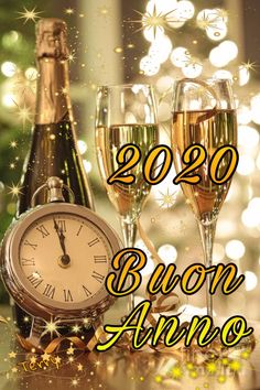 Italian Greetings, New Year Wishes, Good Morning Good Night, Happy New Year 2020, Background Vintage, Vintage Disney, Wine Glass, Alcoholic Drinks, Merry Christmas
