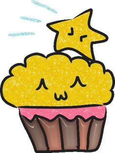 Glitter Gif Picgifs cupcake 456779