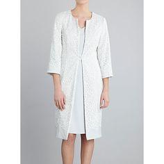 Buy Gina Bacconi Embellished Dress With Coat, Silver Mist Online at johnlewis.com