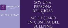 ¡Comparte esta imagen si te declaras en contra del bullying!