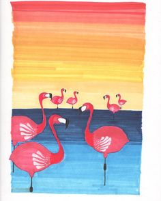 Spring cleaning for me means a lovely giveaway for you!  Today I have an 8x10 print of my flamingos at sunset. First person to Email me gets it. Local shipping is included out of state is paid by receiver. by madelinetrait
