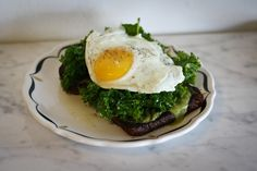 Kale and Poached Egg on Brioche
