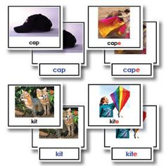 Your children will think it is magic when these words completely change by adding the letter e to the end. This three part card set includes 90 control cards with photographs, word cards to match to the photo.