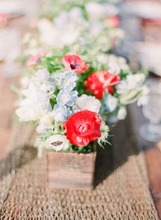 red white and blue flower arrangement // photo by MichelleMarch.com