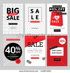 Set of mobile banners for online shopping. Vector illustrations for website and mobile website social media banners, posters, email and newsletter designs, ads, promotional material.
