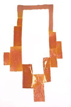 Ela Bauer Neckpiece: Untitled, 2012 Polyurethane, polyamide, textile, pigments 44x25x0,5 cm