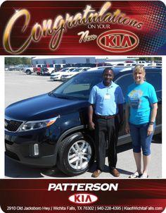 Congratulations Sherrie Bultena on your new 2014 Kia Sorento! - From Mo Yero at Patterson Kia