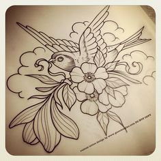 For tomorrow! Adding on to darling Miss Margaret the love letter writing owl besotted with her lover Juan. Little did she know... Flowers were enroute. Ahhhh love ❤hihi #tattoo #tattoos #flowers #flower #magnolia #blossom #bird