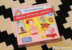 """""""Habille Lilli et ses copines"""" fait parti de la collection """"Mes premiers jeux"""" de Haba. Ce jeu favorise la concentration, l'acquisition de vocabulaire..."""