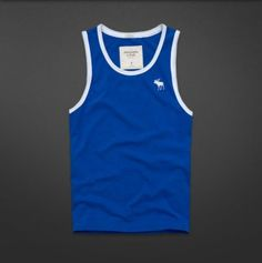 Abercrombie and Fitch Mens Tank Top Tahawus Mountain XXL Blue | eBay