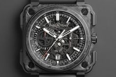 X-perimental: Bell & Ross BR-X1 Skeleton Chronograph Carbon Forgé - Monochrome Watches